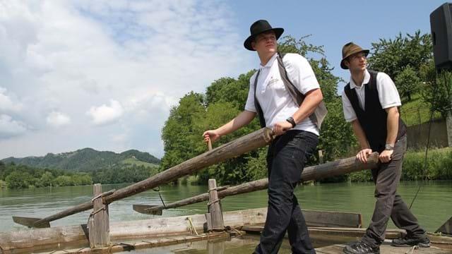 In zattera sul fiume Drava