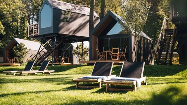 Chocolate village by the river - luxury glamping resort